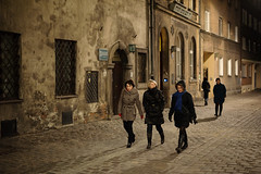 In the Old Jewish Quarter (Andrew Stawarz) Tags: street night nikon poland krakow kazimierz jewishquarter adobelightroom d700 50mmf14gafsnikkor