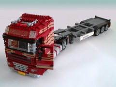 DAF XF105 and trailer (Mad physicist) Tags: dutch truck lego 122 daf xf105