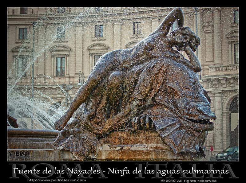 Roma - Fuente de las Náyades - Ninfa de las aguas submarinas