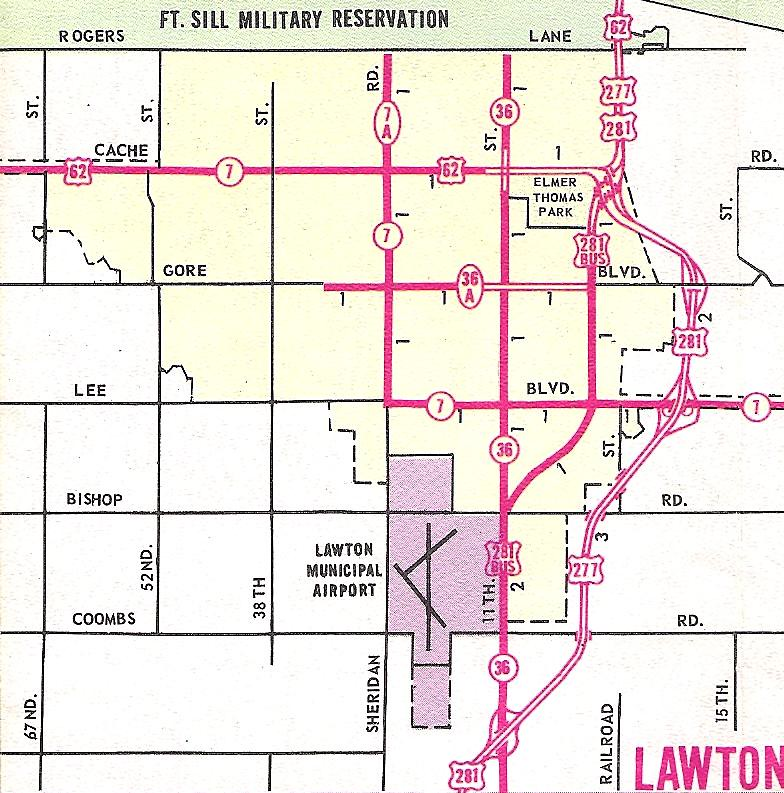 Lawton, OK inset map 1966