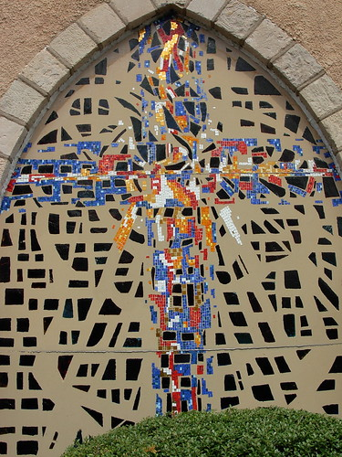 Mosaic Cross Window Holy Trinity Episcopal Church, Lansdale, PA