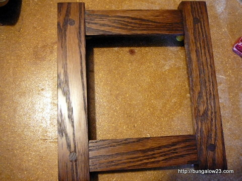 Frame after stain and poly