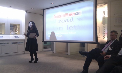 Angelica Mari speaking at Reboot book launch