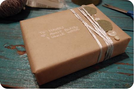 christmas wrapping - the progress 4