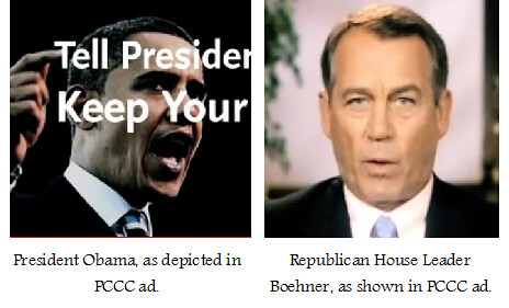 PCCC ad - Boehner White Obama Black