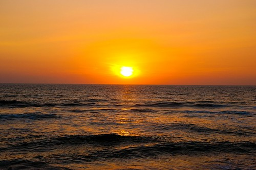 Ocaso en la playa (3)
