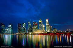 DSC06327-800 (Hendry Niveo) Tags: bridge sea water night marina landscape evening bay singapore cityscape cbd helix financial merlion