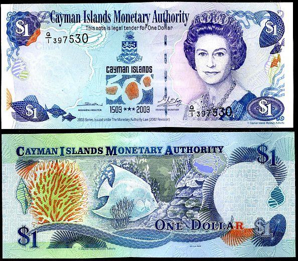 1 Dolár Kajmanie ostrovy 2003, P30