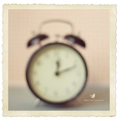 .Time. (qqp) Tags: blur alarm clock time naturallight outoffocus textured fauxvintage vintageframe