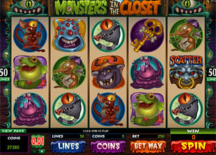 Monsters In The Closet slot game online review