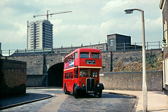 RLH MXX249  at Hackney Wick, 1967 (David Christie 14) Tags: bus lt hackey 178 rlh