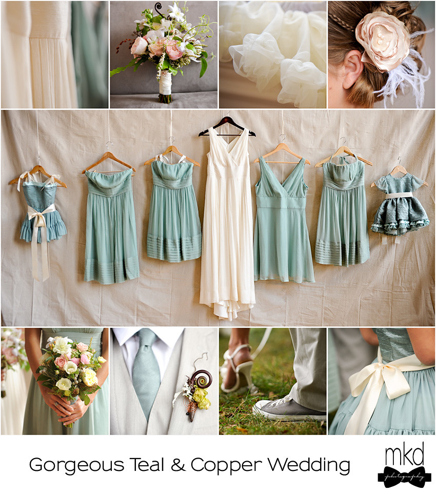 Blue and Copper Wedding