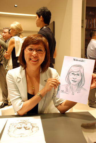 Portrait & Caricature live sketching for Molteni & C - 1