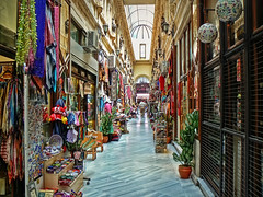 Passage (maistora) Tags: light color colour art shop retail turkey shopping outside souvenirs colorful long quiet open crafts arcade istanbul goods business gifts winner siesta duel colourful passage relaxed narrow taksim beyoglu istiklal pera maistora