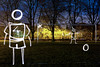 Field Of Dreams (Penalty Kick Light Painting), Rickmansworth (flatworldsedge) Tags: longexposure light urban ball painting football twilight traffic kick soccer 4 spot torch vision flashlight penalty goalkeeper keeper rickmansworth fabregas cesc explored