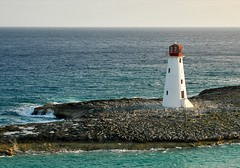 Lonely Beacon (Serge Freeman) Tags: ocean lighthouse seascape sunrise landscape horizon bahamas nassau beacon explored
