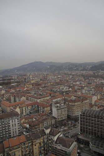 View of Torino from observation deck 5
