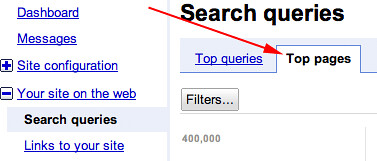 Top Pages Google Webmaster Tools