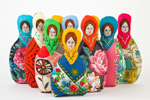 embroidered dolls by hillery rebe