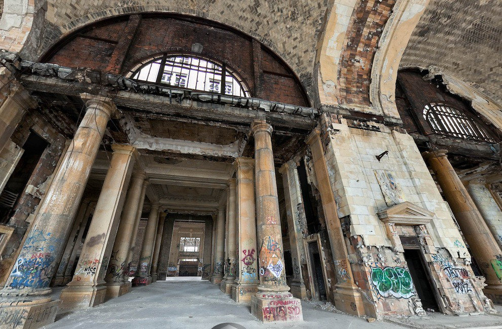 Michigan Central Station Ticket Lobby
