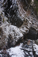Ice Wall (Matt Champlin) Tags: life winter woman holiday cold sexy ice nature water danger landscape melting glen icicle icy fillmore icewall upstatenewyorkwinter fillmoreglengorge