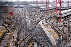 Tracks X Lines (Georgie_grrl) Tags: toronto ontario lines ttc curves tracks photographers social x rails pentaxk1000 outing trainyard subways crisscrossing takumar125135mm cans2s torontophotowalks topwqe leslievillequeenstreeteast