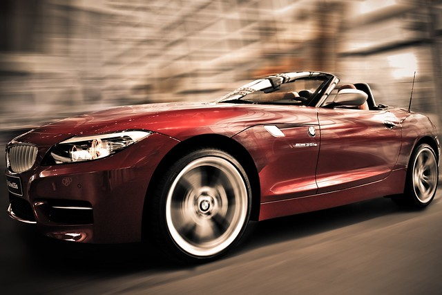 auto red rot car speed canon münchen eos move bewegung bmw z4 hdr welt 40d