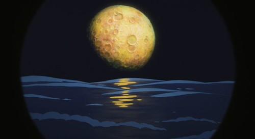 ponyo moon over ocean