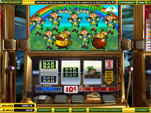 free Luck o'the Irish slot bonus game