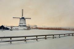 Millwinterscape (Allard Schager) Tags: winter snow cold holland mill netherlands windmill fence landscape nikon december sneeuw nederland molen noordholland 2010 winterscape newtoy windmolen perimeter municipality coldness schermer schermerhorn northholland hekje wintermood noordervaart snowywhite nikcolorefexpro d700 nikond700 nikkor2470mmf28 nikkor2470 nikon2470 nikonfx allardone allard1 skeletalmesstexture guessimback clichedutchlandscapeinwinter allardschagercom