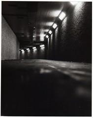 Granville St. Underpass (Starship Jones) Tags: street white canada black fall 120 film st vancouver analog underpass bc granville britishcolumbia spooky mm 2010 starshipjones naagaaanoogieeenaaaga