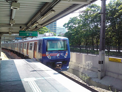 CPTM 2070 Series (Diego3336) Tags: cameraphone park brazil reflection public water station brasil train reflections river cyclists saopaulo metro transport railway lg pollution transportation commuter metropolis bikelane alstom caf bicyclepath bombardier marginalpinheiros esmeralda riopinheiros windowsphone cptm 2070 cyclism linha9 alstommetropolis windowsphone7 optimus7 lge900