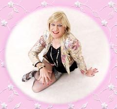 Sparkly Wendy (wendy_glos) Tags: hot sexy girl diamonds t tv cd femme mini skirt tgirl transgender short micro transvestite heels fishnets tight trans wendy sequins tart crossdresser glos seamed tgirltart