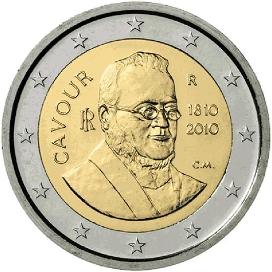 2 Euro Taliansko 2010, gróf Di Cavour