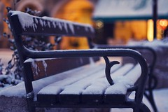 So it is winter (Fabio Sabatini) Tags: winter snow ice canon bench 50mm dof bokeh f14 depthoffield trento trentino dolomites