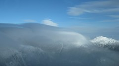 Cap Cloud 12-8-10 (rightthewrong) Tags: new cloud white mountains washington december mt gulf adams great peak nh hampshire presidential mount observatory cap monroe summit lenticular obs mwo presidentials