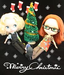 Chess & Jenna wishing a merry x-mas