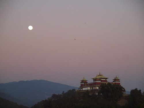 Full moon from Kopan monastery