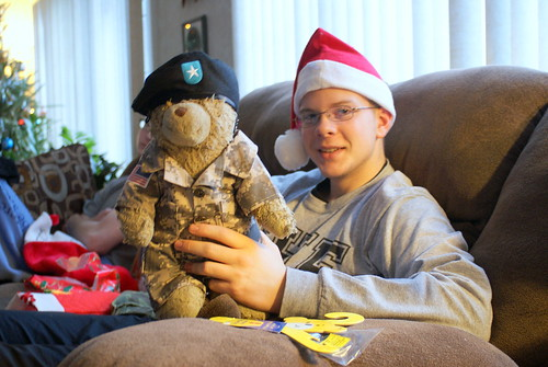 Ben with His General Sarge Bear 01