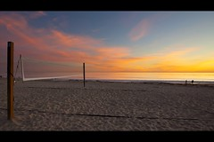twilight pastels (Eric 5D Mark III) Tags: ocean california sunset sky seascape color reflection beach canon landscape twilight pastel atmosphere wideangle volleyball orangecounty tone lagunabeach ef1635mmf28liiusm eos5dmarkii