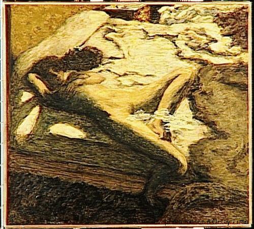 Femme assoupie sur un lit, Pierre Bonnard, 1899