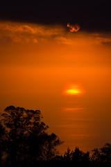 Kula sunset (mfeingol) Tags: ocean sunset sun reflection water hawaii evening maui haleakala kula