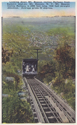 Looking Down Mt. Beacon Incline Railway