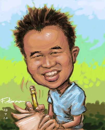 My caricature by William Fiesterman