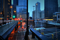 Early Morning Blues in HDR (Seth Oliver Photographic Art) Tags: chicago illinois nikon midwest cityscapes trumptower wrigleybuilding chicagoriver hdr pinoy downtownchicago urbanscapes michiganavenuebridge d90 columbusdrive 5secondexposure pseudohdr highdynamicrangeimage lowerwackerdrive columbusbridge singlefilehdr chicagoriverwalk upperwackerdrive manualmodeexposure cityfrontplace bluehourshot setholiver1 aperturef220 tripodmountedshot earlymorningbluehour tamron1024mmuwalens