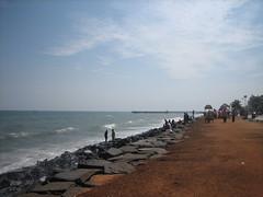 The Promenade beach, Pondicherry (Rupak Sarkar and Uma Sarkar) Tags: coast frenchcolony unionterritory
