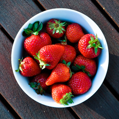 Strawberries = Summer - 1/365 (Ann McLeod Images) Tags: red summer fruit nikon berries strawberries 365 1365 d90 365project nikond90 annmcleod