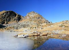 Elenino lake, Rila mountain (Morkovica) Tags: sky mountain lake ice reflections bulgaria rila fujifilm  s5700