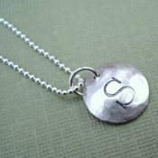 Hand Stamped Initial Necklace