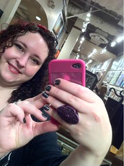 mirror Kristine with my new ring.